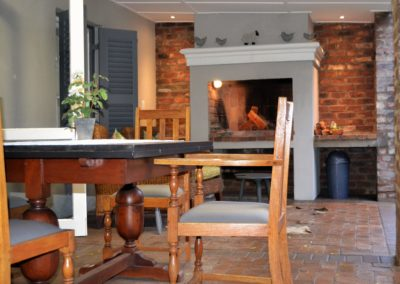 Have a seat on our stoep and enjoy a meal